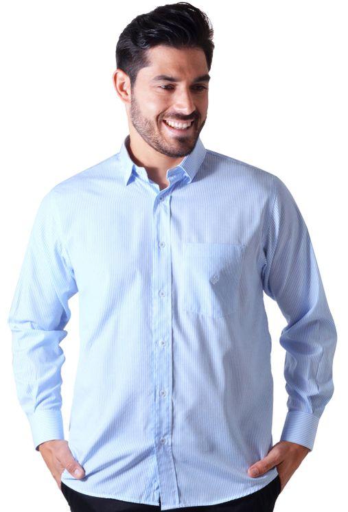 Camisa-casual-masculina-tradicional-algodao-azul-claro-f01755a-5