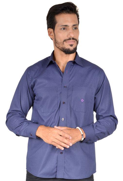 Camisa-casual-masculina-tradicional-algodao-fio-40-azul-escuro-f01862a-5
