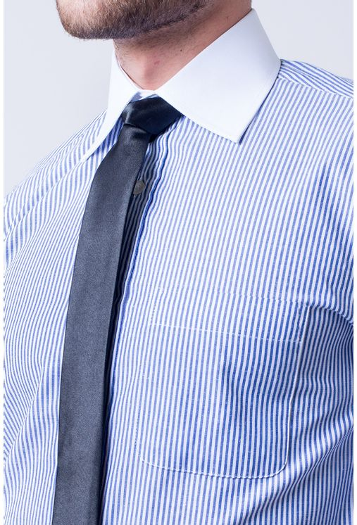 Camisa-social-masculina-tradicional-algodao-misto-azul-escuro-f05820a-1
