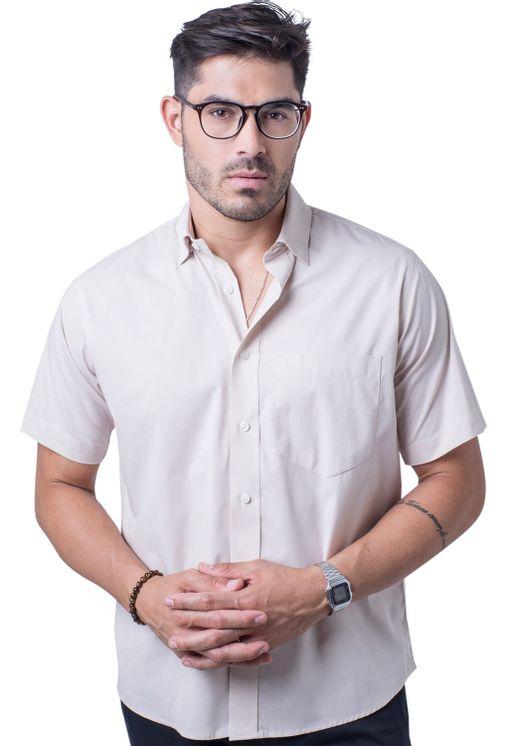 Camisa-casual-masculina-tradicional-algodao-fio-40-bege-r09903a-5