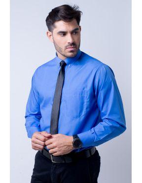 67a3aea238 Camisa social masculina tradicional fácil de passar azul f09993a 01 ...