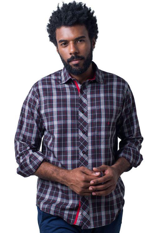 Camisa-casual-masculina-tradicional-algodao-fio-40-preto-f01830a-5