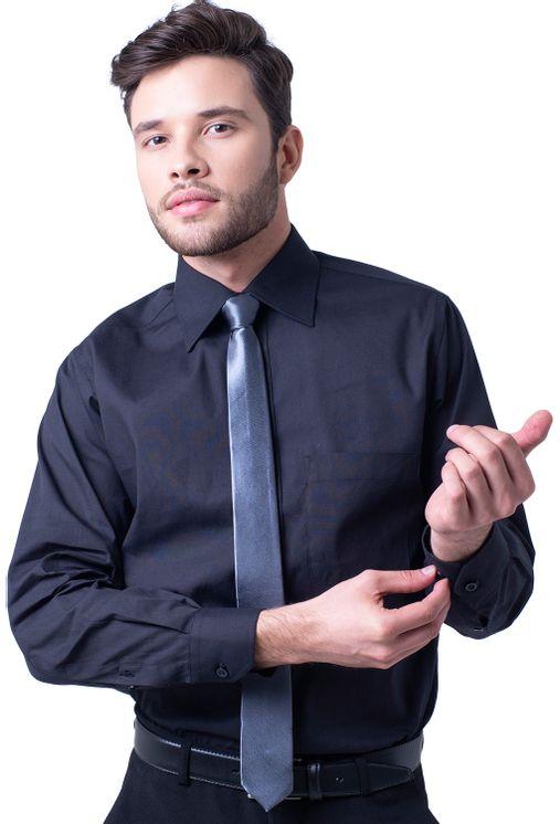 Camisa-social-masculina-tradicional-algodao-fio-50-preto-f08079a-5