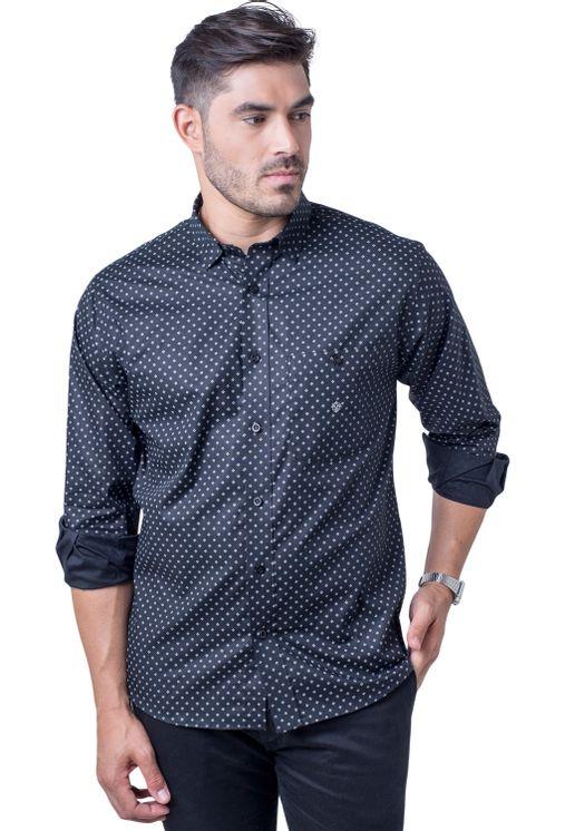Camisa-casual-masculina-tradicional-algodao-fio-40-preto-f01868a-5