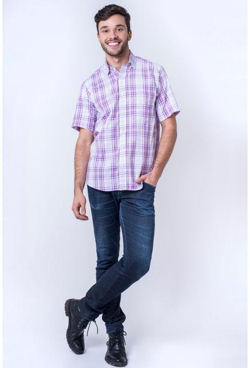 Camisa-casual-masculina-tradicional-algodao-fio-40-rosa-f05541a-4