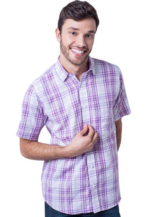 Camisa-casual-masculina-tradicional-algodao-fio-40-rosa-f05541a-5