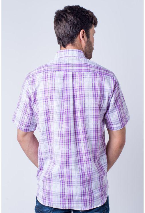 Camisa-casual-masculina-tradicional-algodao-fio-40-rosa-f05541a-1