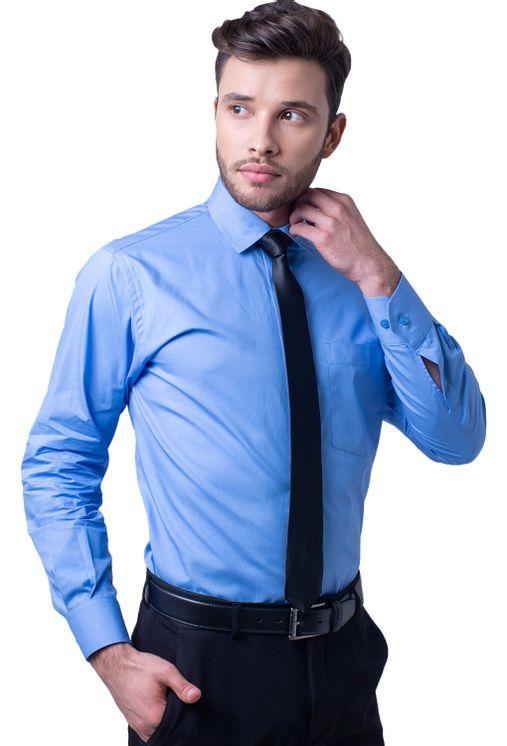 Camisa-social-masculina-tradicional-algodao-fio-40-azul-medio-f05848a-1