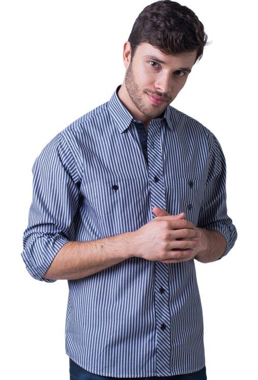 Camisa-casual-masculina-tradicional-algodao-fio-50-cinza-f01410a-5