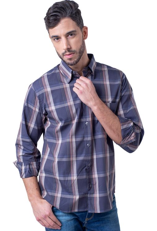 Camisa-casual-masculina-tradicional-algodao-fio-50-grafite-f01668a-5