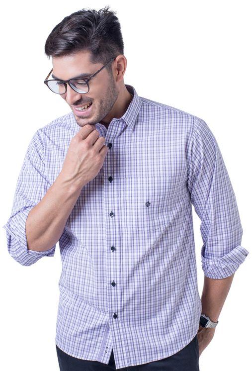 Camisa-casual-masculina-tradicional-algod-o-fio-50-lil-s-f01410a-frente