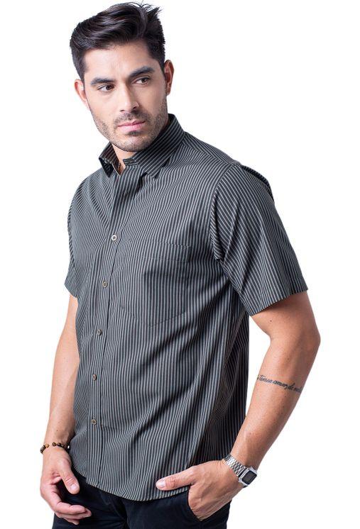 Camisa-casual-masculina-tradicional-algodao-fio-50-verde-escuro-f05198a-1