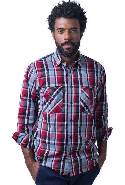 Camisa-casual-masculina-tradicional-algodao-fio-50-vermelho-e01855a-5