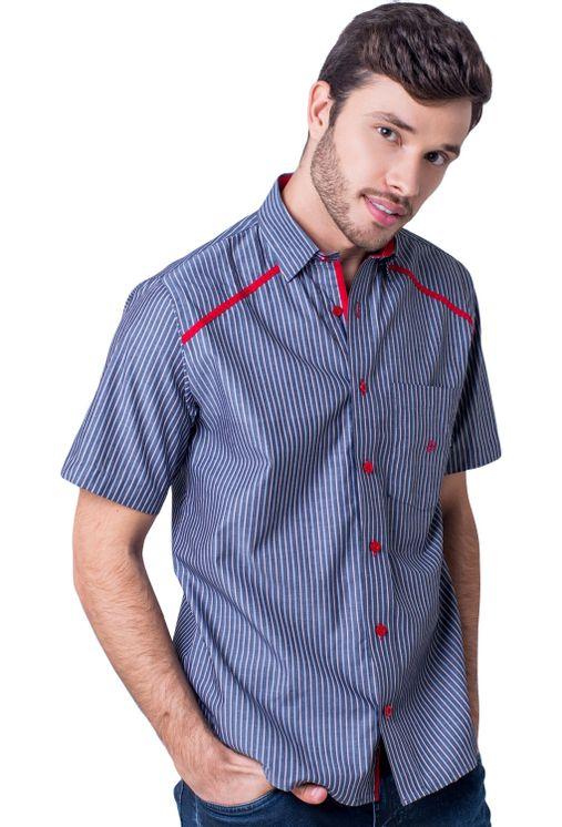 Camisa-casual-masculina-tradicional-algodao-fio-50-vermelho-f01196a-5