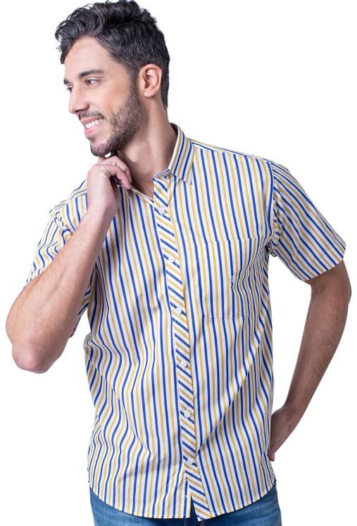 Camisa-casual-masculina-tradicional-algodao-fio-60-amarelo-f01275a-5