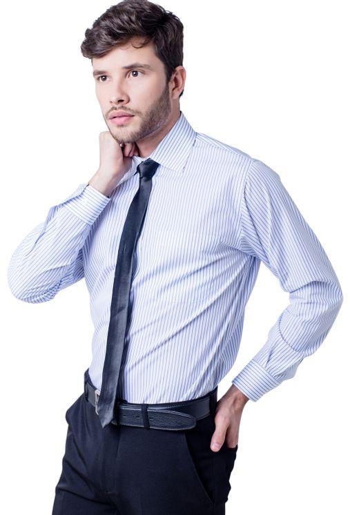 Camisa-casual-masculina-tradicional-algodao-fio-60-branco-f03823a-frente