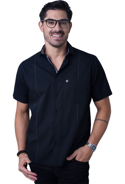 Camisa-casual-masculina-tradicional-algodao-fio-60-preto-f01145a-5