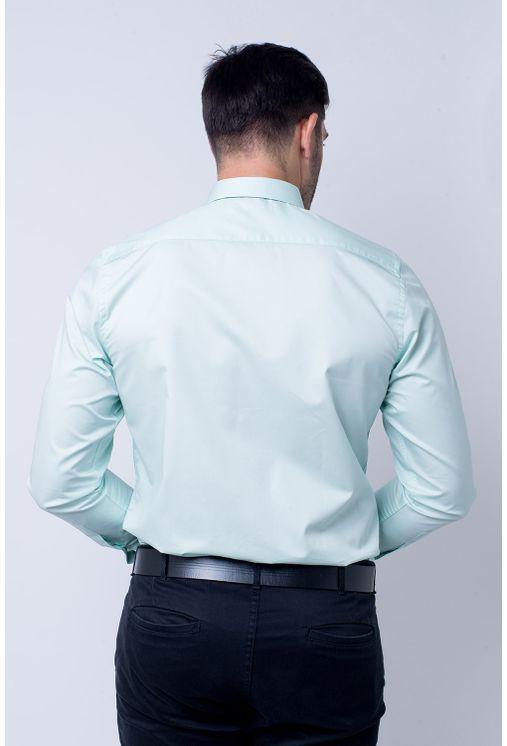 ee1b4069ef Camisa social masculina slim algodão fio 80 verde f05425s ...