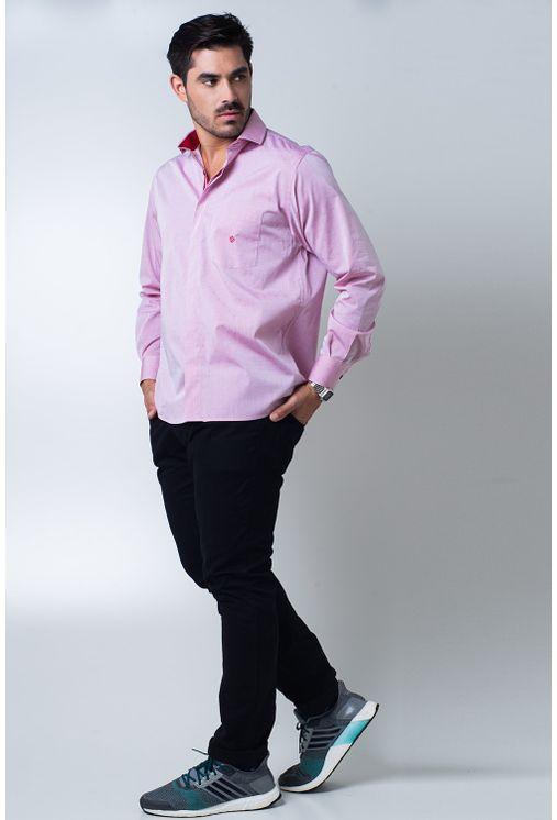 Camisa-casual-masculina-tradicional-algodao-fio-60-vermelho-f01039a-4