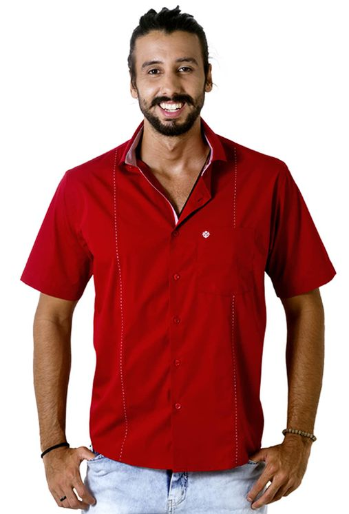 Camisa-casual-masculina-tradicional-algodao-fio-60-vermelho-f01145a-5