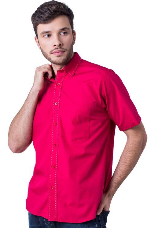Camisa-casual-masculina-tradicional-algodao-fio-60-vermelho-f01272a-5