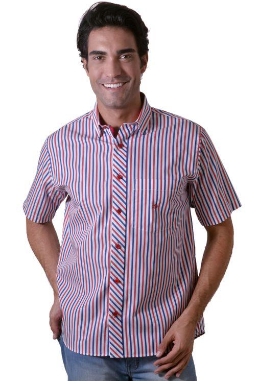 Camisa-casual-masculina-tradicional-algodao-fio-60-vermelho-f01275a-1