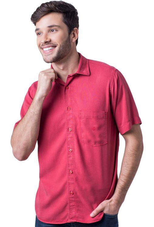 Camisa-casual-masculina-tradicional-tencel-vermelho-f06020a-5