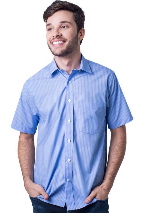 Camisa-casual-masculina-tradicional-algodao-fio-80-azul-medio-f06021a-5
