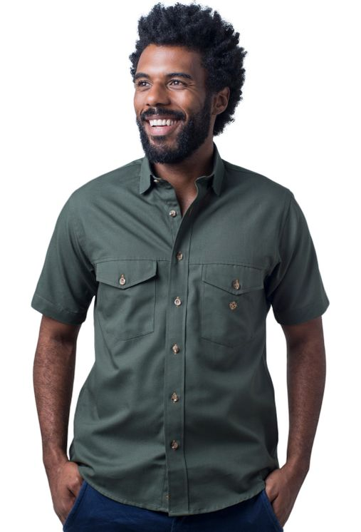 Camisa-casual-masculina-tradicional-sarjada-verde-f01681a-5