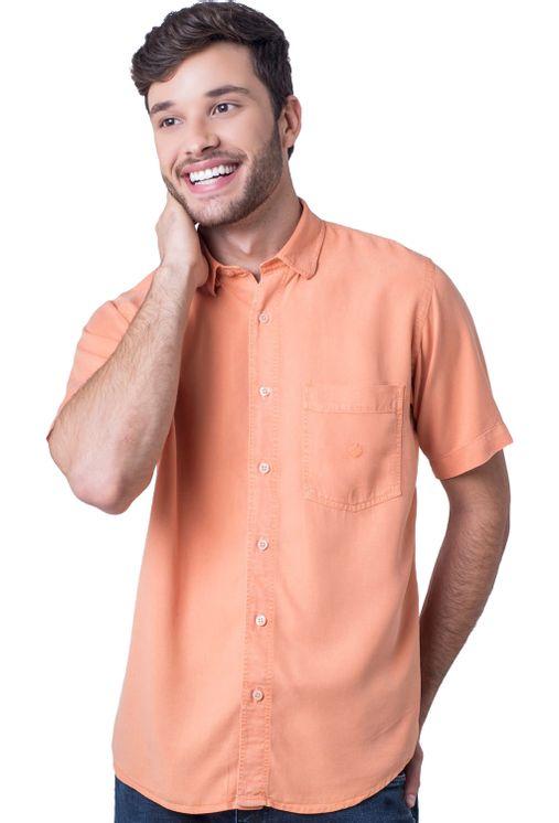 Camisa-casual-masculina-tradicional-tencel-laranja-f06020a-5
