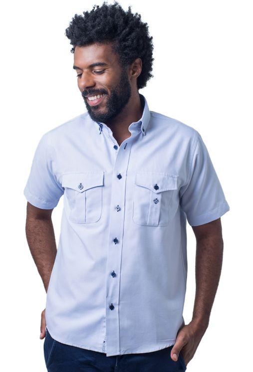 Camisa-casual-masculina-tradicional-sarjada-azul-claro-f01700a-frente