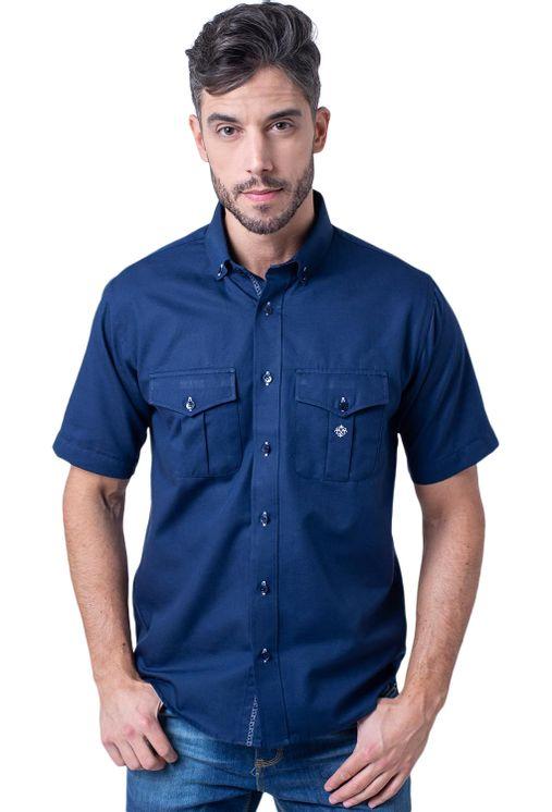Camisa-casual-masculina-tradicional-sarjada-azul-escuro-f01700a-5