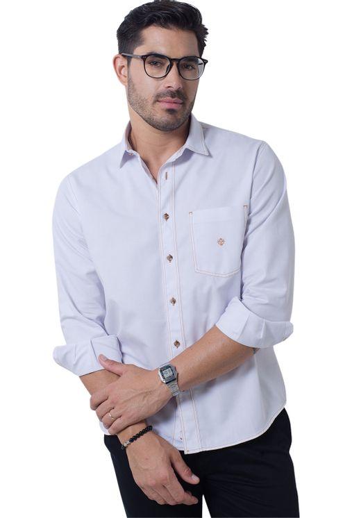 Camisa-casual-masculina-tradicional-sarjada-branco-f01679a-frente