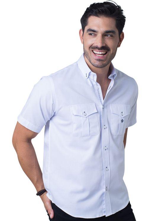 Camisa-casual-masculina-tradicional-sarjada-branco-f01700a-frente