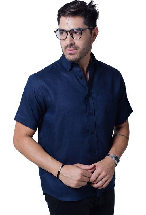 Camisa-casual-masculina-tradicional-linho-azul-escuro-f03943a-5