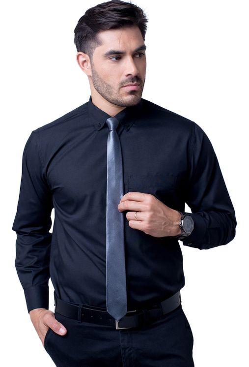 Camisa-casual-masculina-tradicional-algodao-misto-preto-r09993a-5