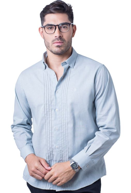 Camisa-casual-masculina-tradicional-linho-misto-cinza-f01293a-5