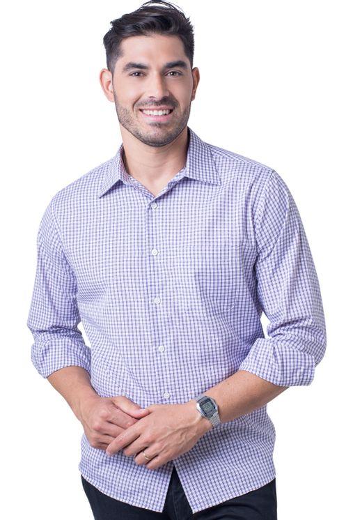 Camisa-casual-masculina-tradicional-algodao-roxo-f05695a-5