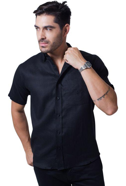 Camisa-casual-masculina-tradicional-linho-preto-f03943a-5