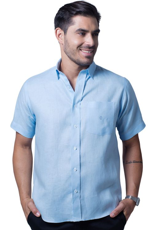 Camisa-casual-masculina-tradicional-cambraia-de-linho-azul-claro-f03943a-5