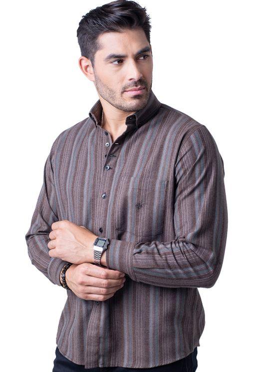 Camisa-casual-masculina-tradicional-flanela-bege-f01100a-5