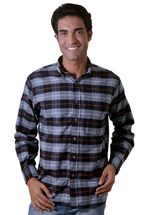 Camisa-casual-masculina-tradicional-flanela-cinza-f05689a-1