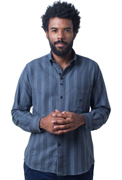 Camisa-casual-masculina-tradicional-flanela-grafite-f01100a-5