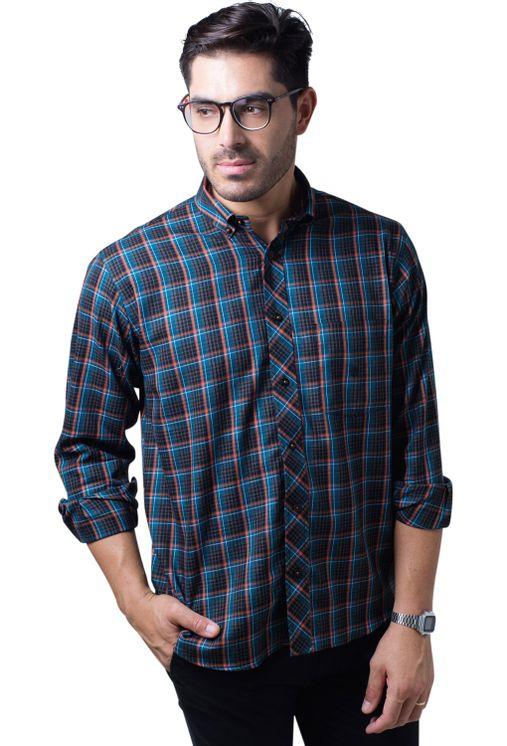 Camisa-casual-masculina-tradicional-flanela-laranja-f01833a-5