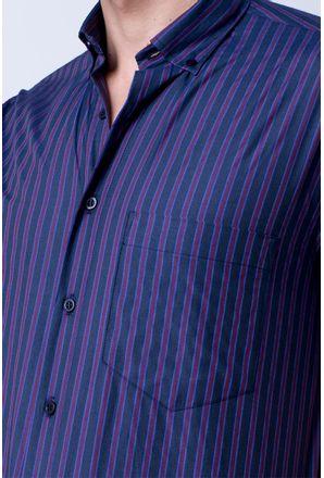 Camisa-casual-masculina-tradicional-algodao-misto-roxo-f07422a-3