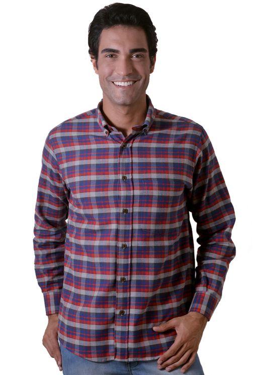Camisa-casual-masculina-tradicional-flanela-vermelho-f05689a-1