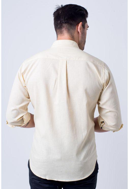 Camisa-casual-masculina-tradicional-linho-misto-amarelo-f01295a-2