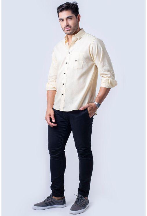 Camisa-casual-masculina-tradicional-linho-misto-amarelo-f01295a-4