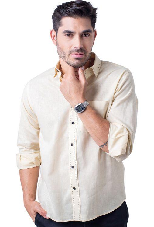 Camisa-casual-masculina-tradicional-linho-misto-amarelo-f01295a-5