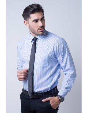 aed5fbcc8a Camisa social masculina tradicional passa fácil azul claro f07600a 01 ...
